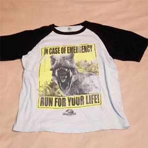 Boys Gray + Black 'Jurassic World' Shirt